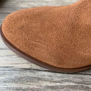 Steve Madden Shoes - Steve Madden Suede Cognac Block Stack Heel Bootie